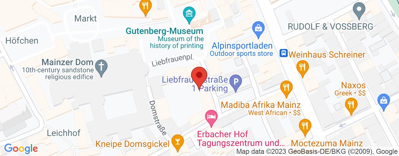Karte von Bodymed-Center Mainz-Mombach