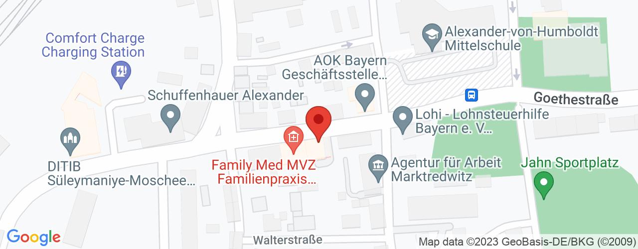 Karte von Bodymed-Center Marktredwitz