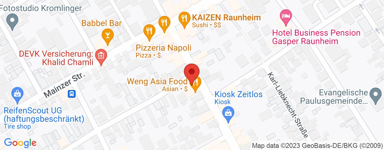 Karte von Bodymed-Center Raunheim