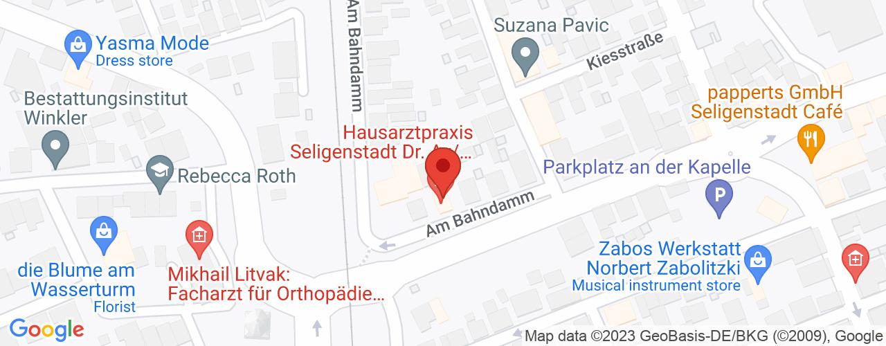 Karte von Bodymed-Center Seligenstadt