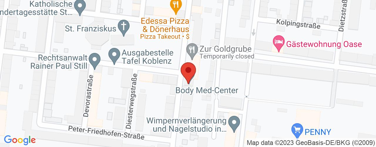 Karte von ♛ PREMIUM Bodymed-Center Koblenz
