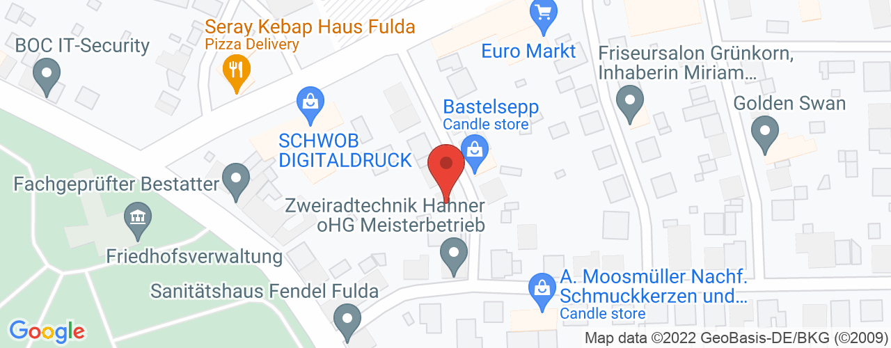 Karte von Fulda-Musikviertel