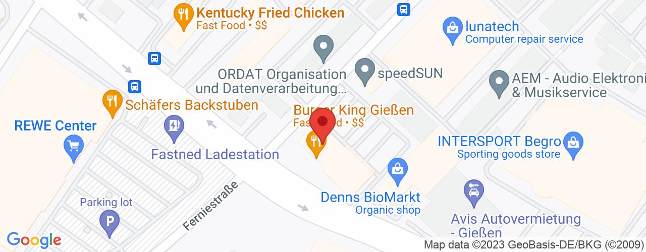 Karte von Bodymed-Center Gießen