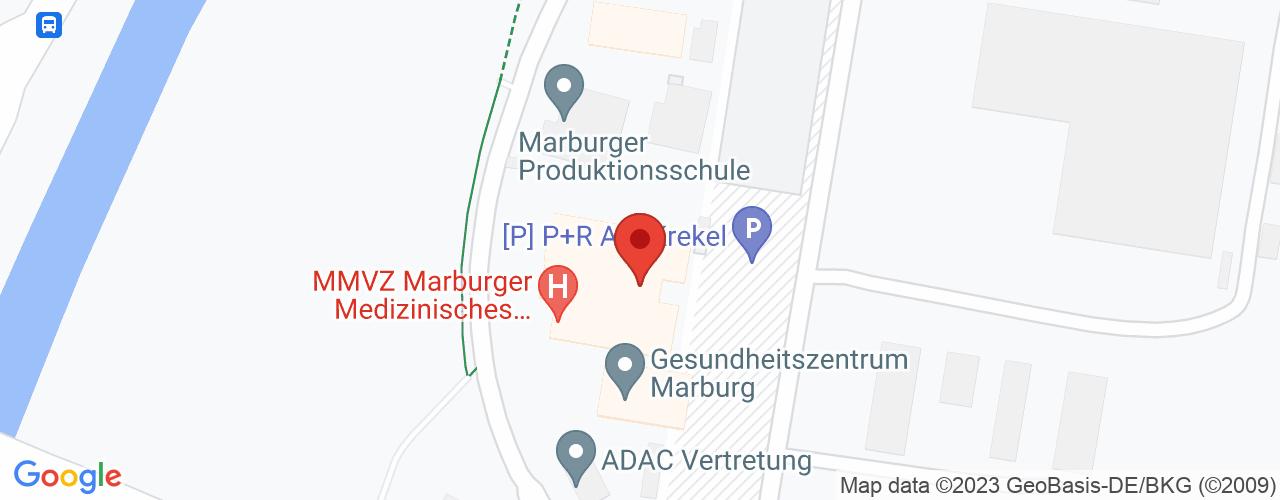 Karte von Bodymed-Center GZM Marburg