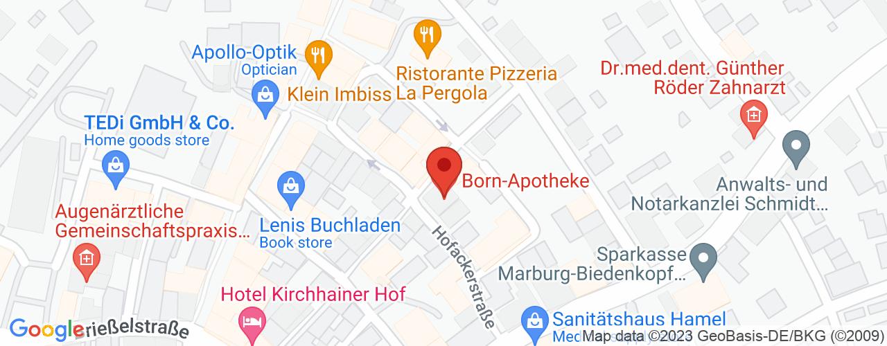 Karte von Bodymed-Center Kirchhain