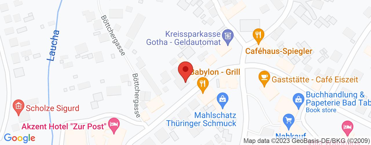 Karte von Bodymed-Center Bad Tabarz