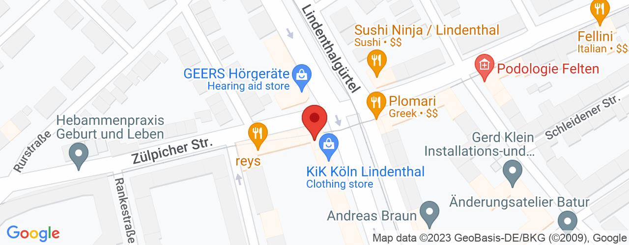 Karte von Bodymed-Center Köln-Sülz