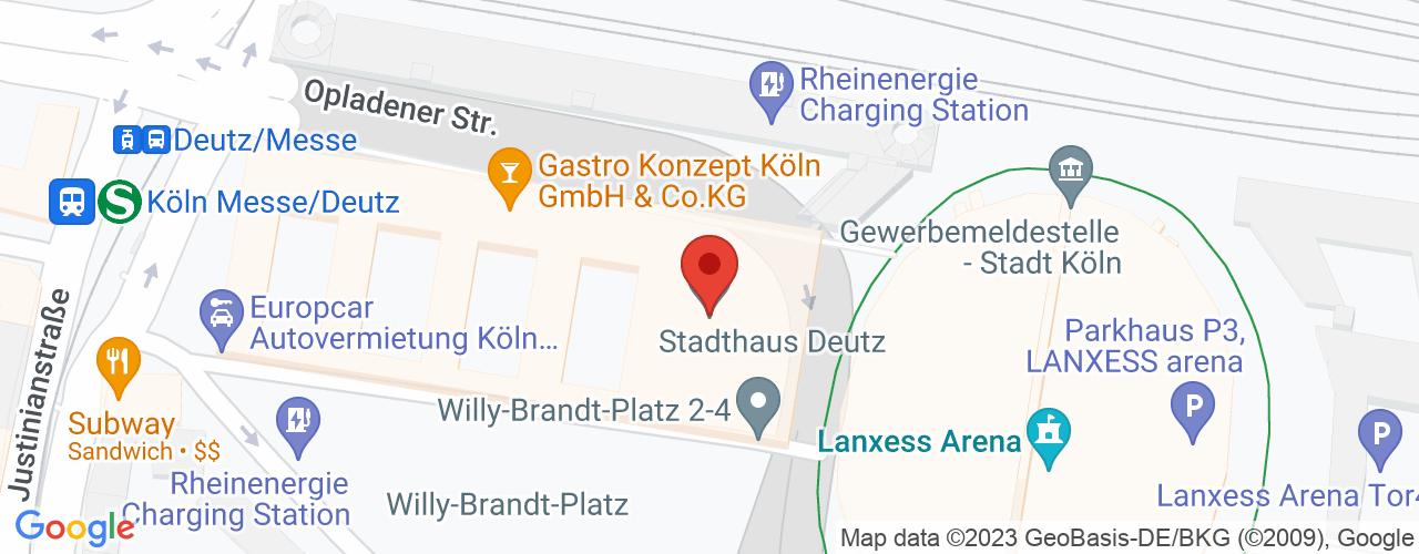 Karte von Bodymed-Center Köln Willy-Brandt-Platz