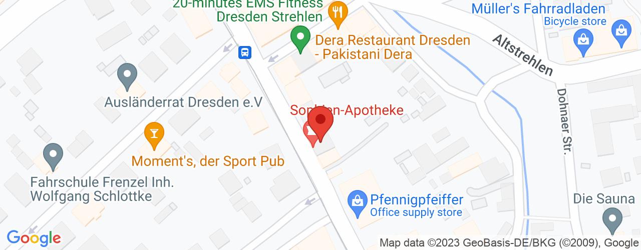 Karte von Bodymed  Center Dresden Strehlen