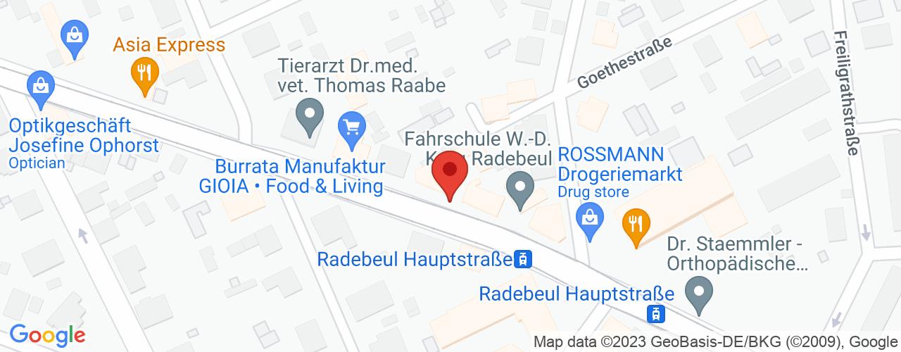 Karte von Bodymed-Center Radebeul