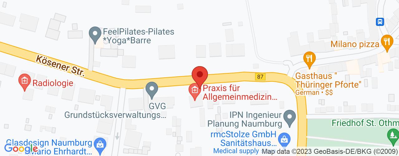 Karte von Bodymed-Center Naumburg