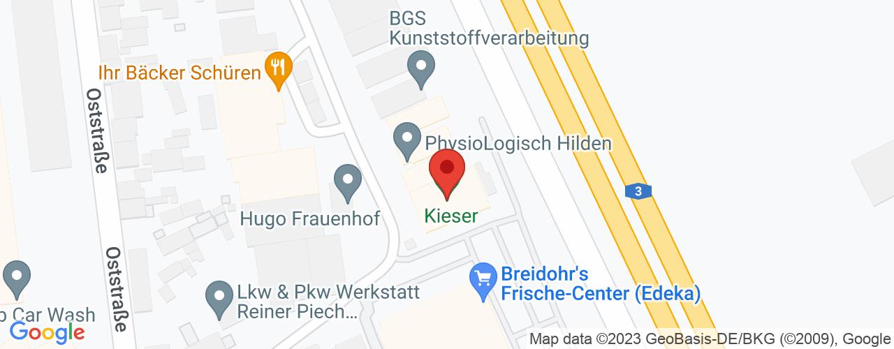 Karte von Bodymed-Center Hilden/Mühlenbachweg