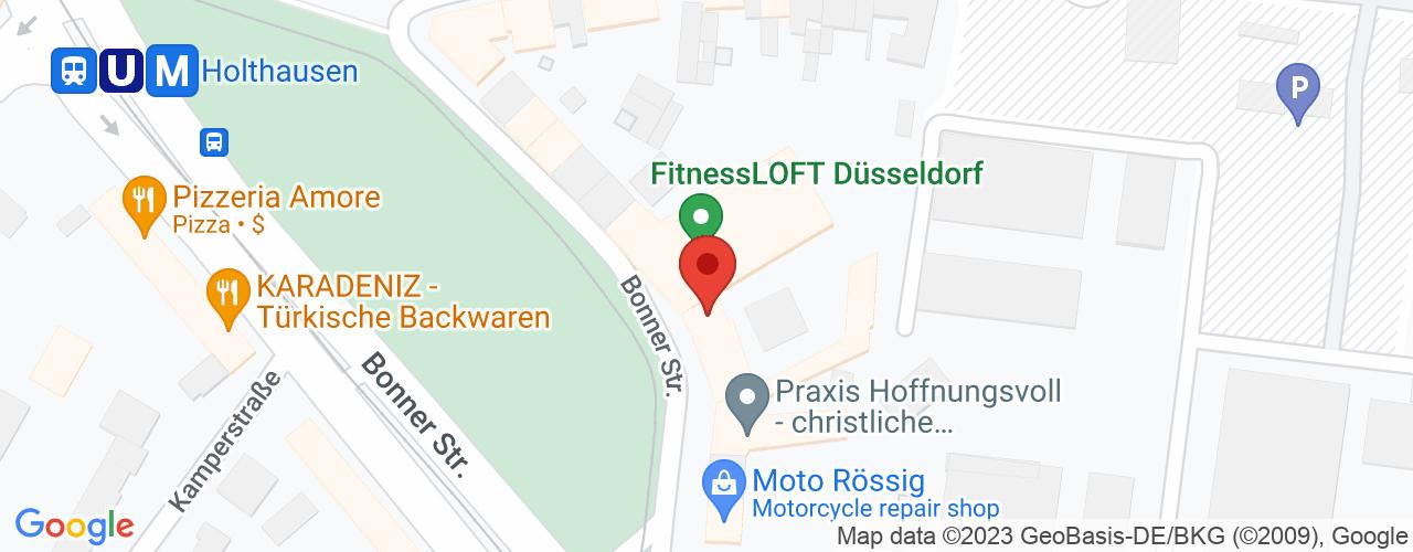 Karte von Bodymed-Center Düsseldorf-Südost