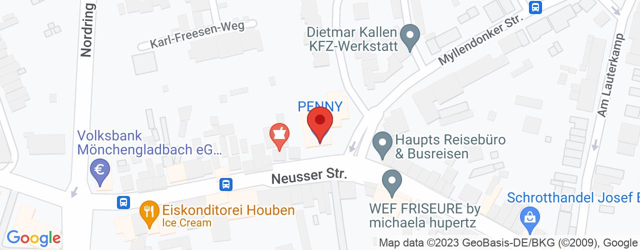 Karte von Bodymed-Center Mönchengladbach