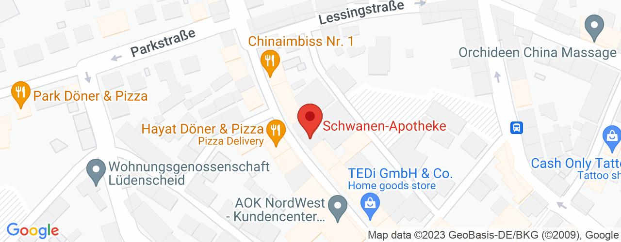 Karte von Bodymed-Center Lüdenscheid