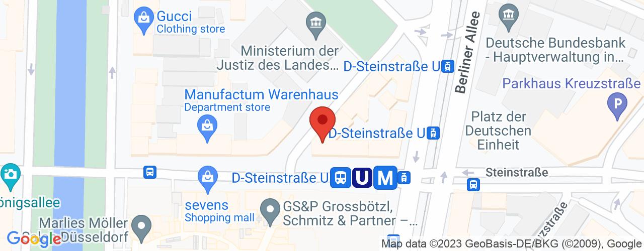 Karte von Bodymed-Center Düsseldorf-Steinstraße