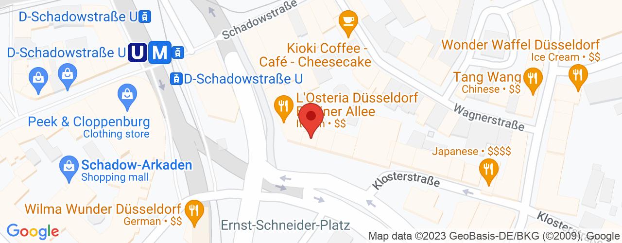 Karte von Bodymed-Center Düsseldorf Kö-Bogen