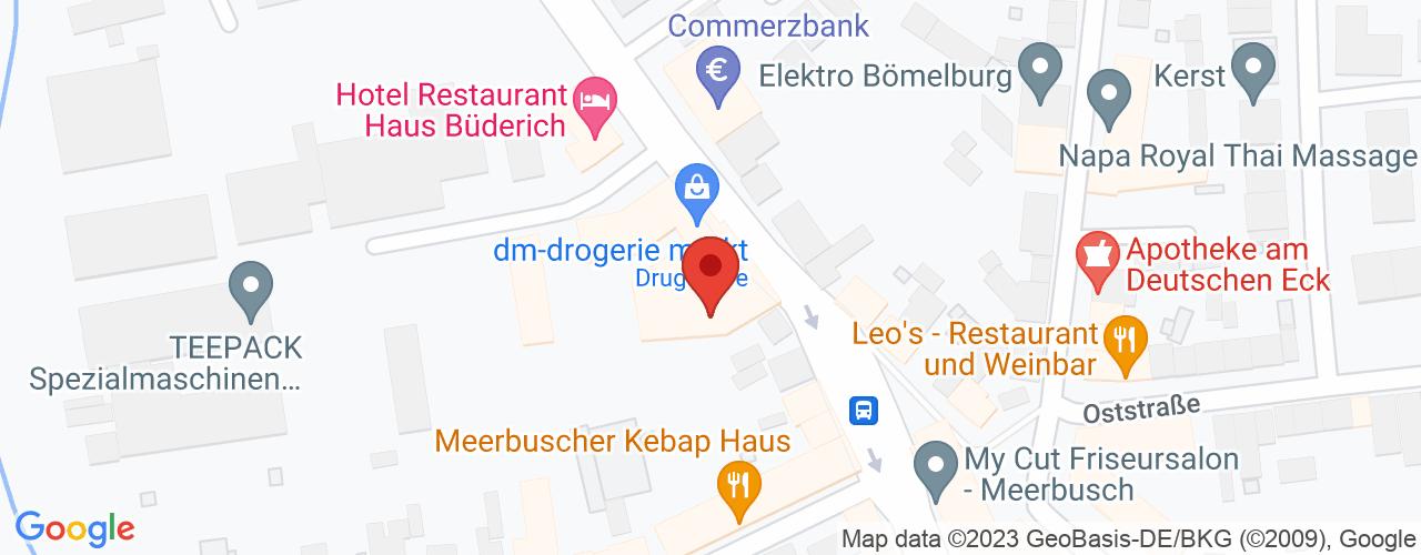 Karte von Bodymed-Center Meerbusch
