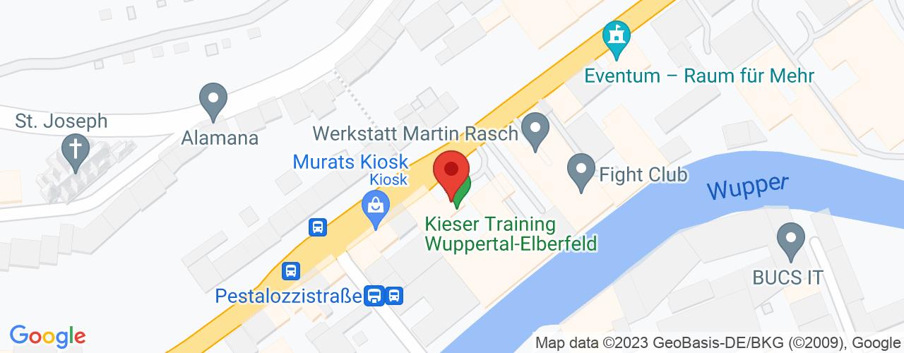 Karte von Bodymed-Center Wuppertal-Katernberg