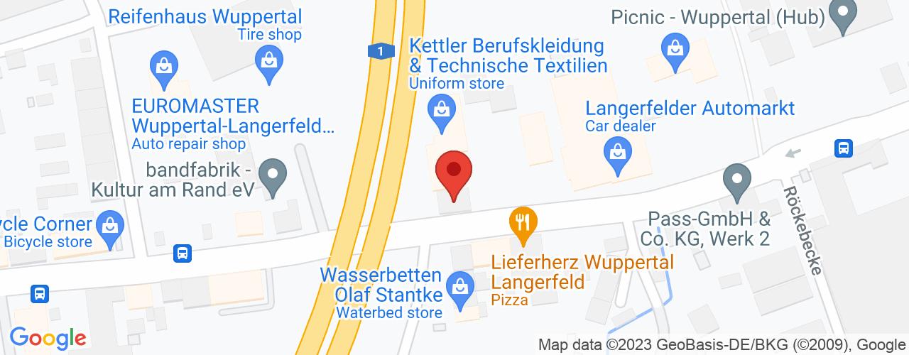 Karte von Bodymed-Center Wuppertal-Langerfeld