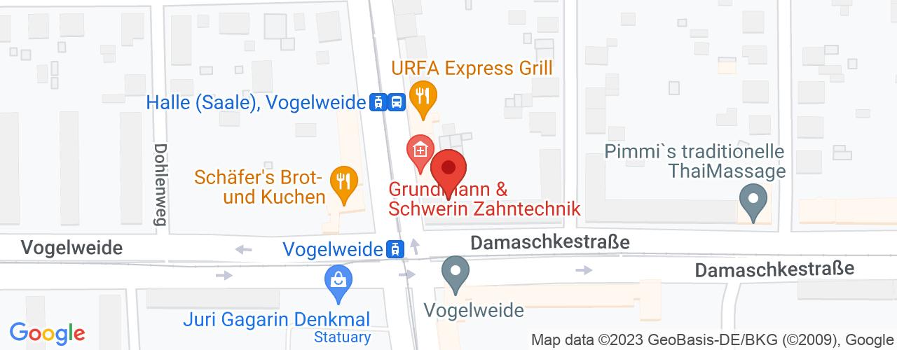 Karte von Bodymed-Center Halle-Vogelweide
