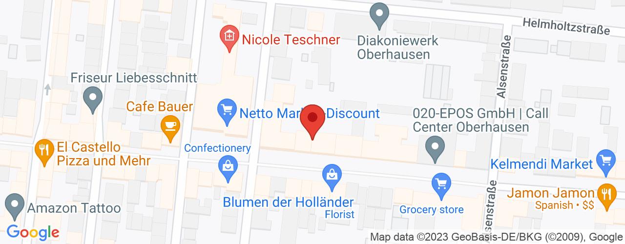 Karte von Bodymed-Center Oberhausen