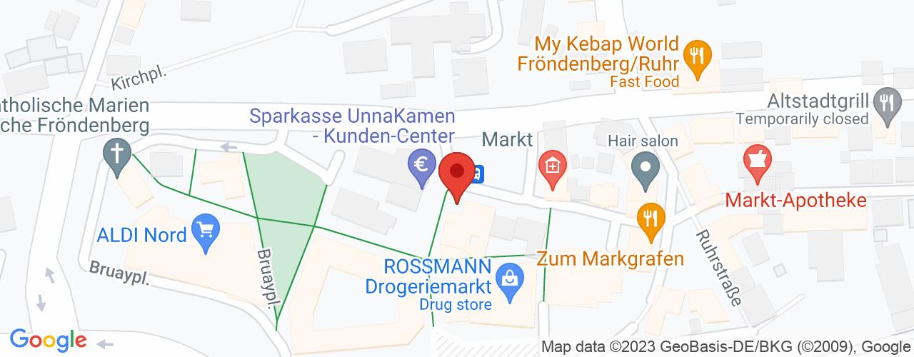 Karte von Bodymed-Center Fröndenberg