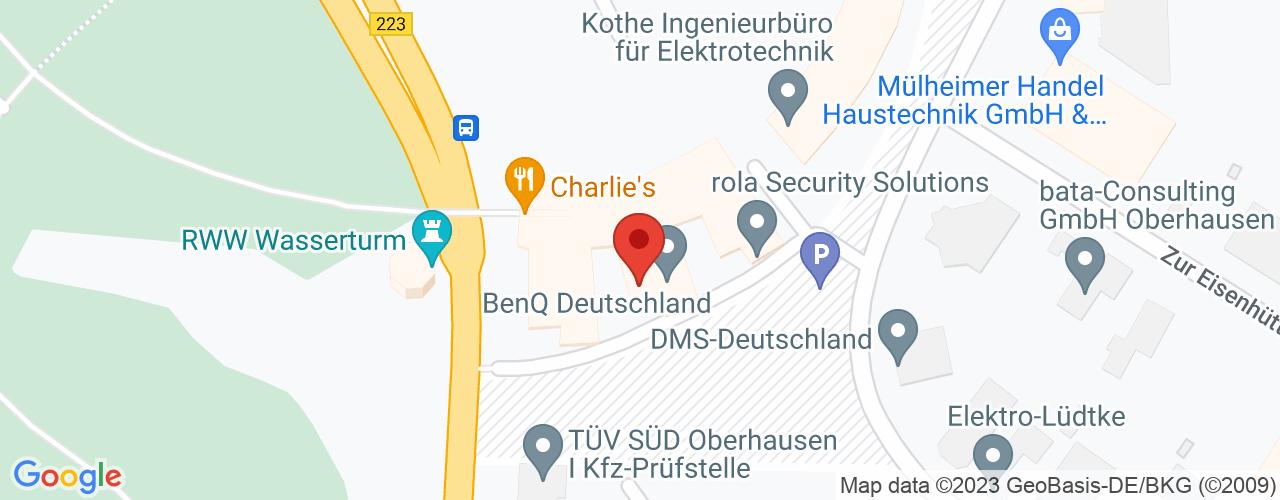 Karte von Bodymed-Center Oberhausen-Mitte