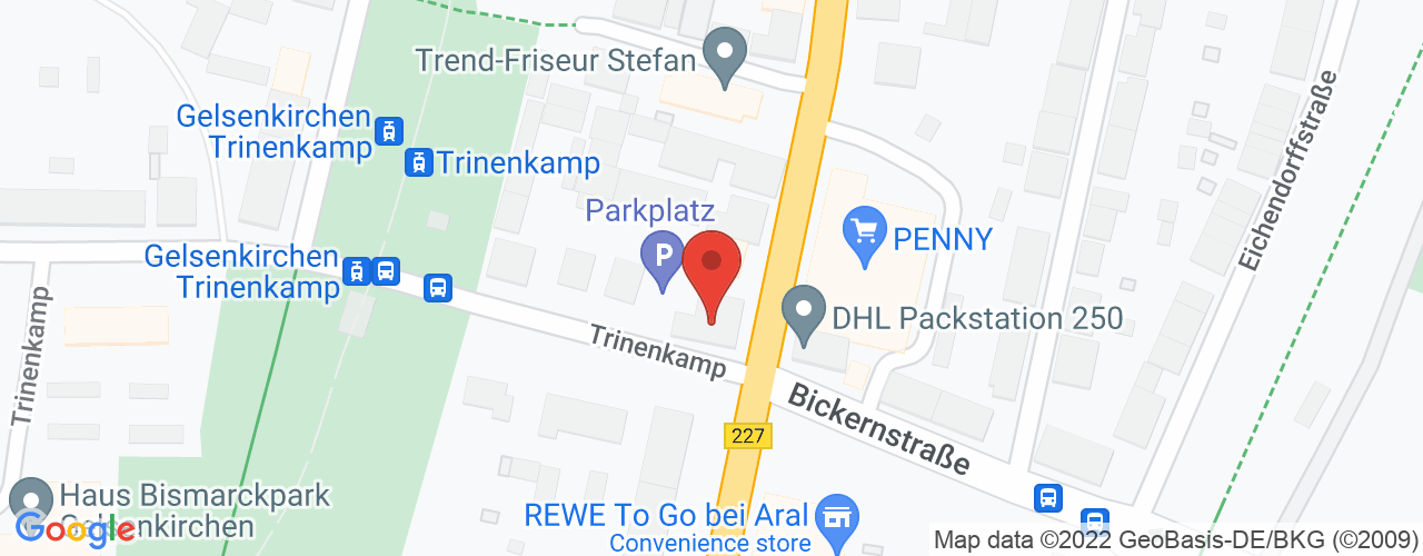 Karte von Bodymed-Center Gelsenkirchen
