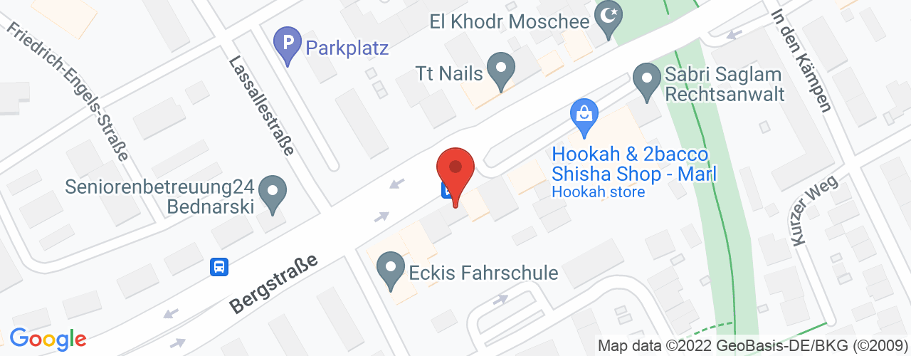 Karte von Bodymed-Center Marl