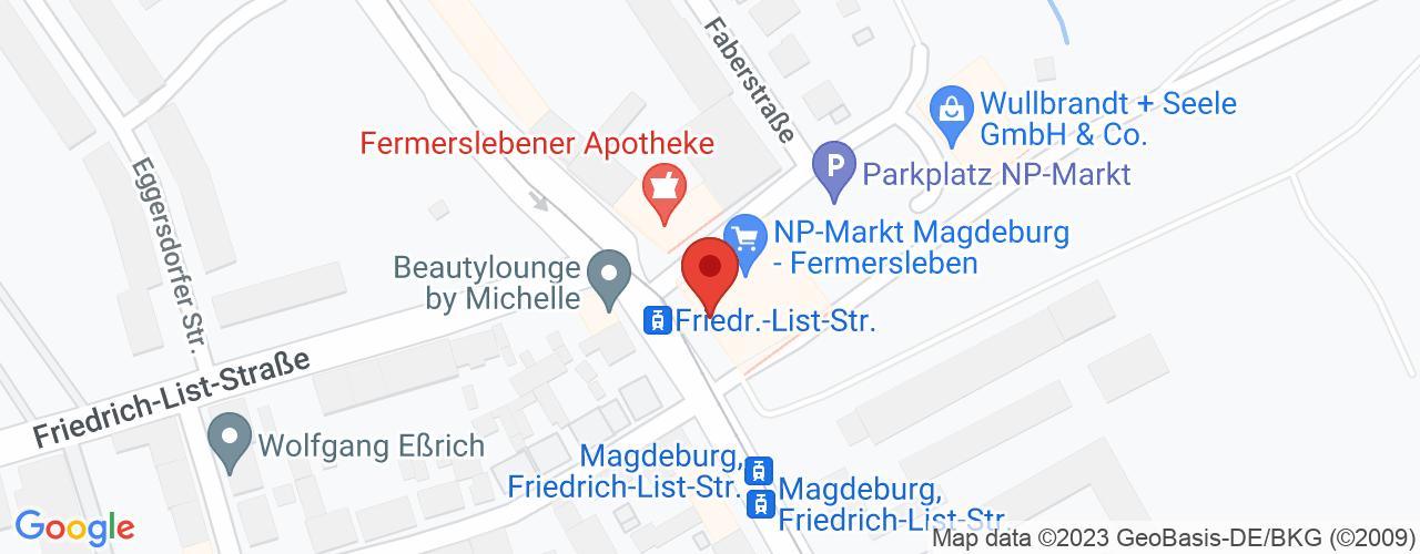Karte von Bodymed-Center Magdeburg Fermersleben