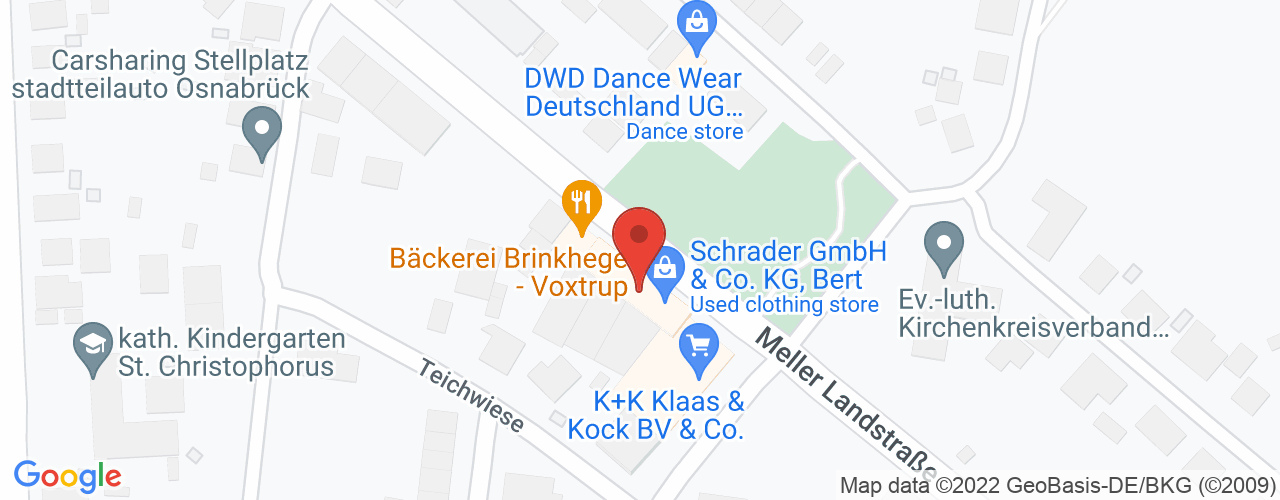 Karte von Bodymed-Center Osnabrück-Voxtrup