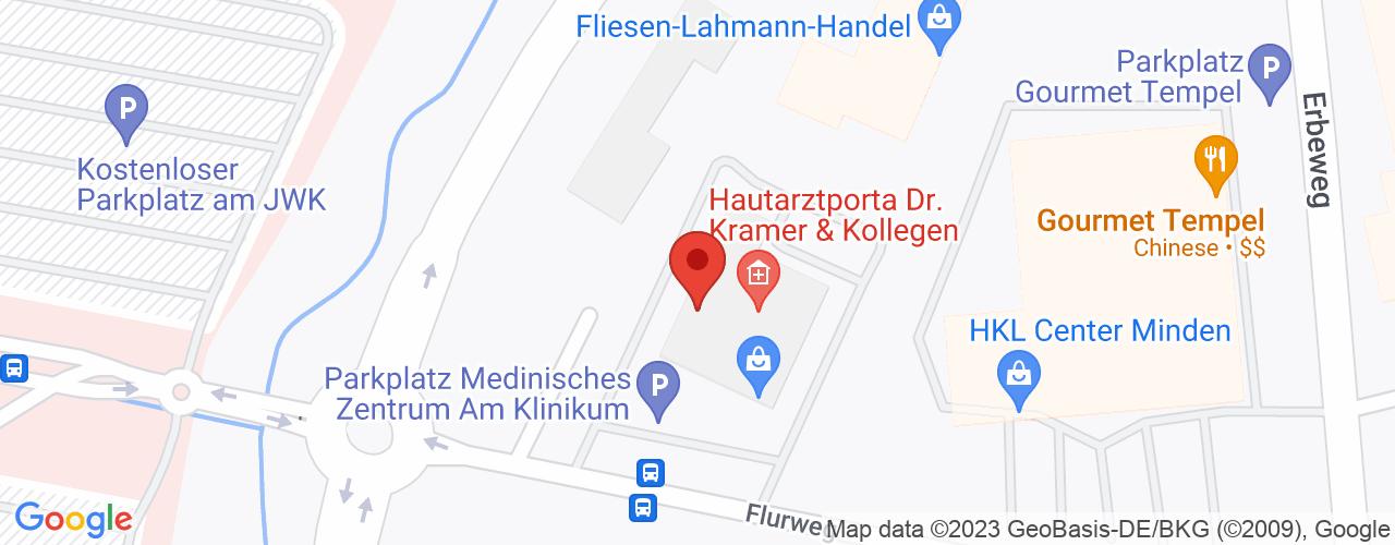 Karte von Bodymed-Center Minden-Porta
