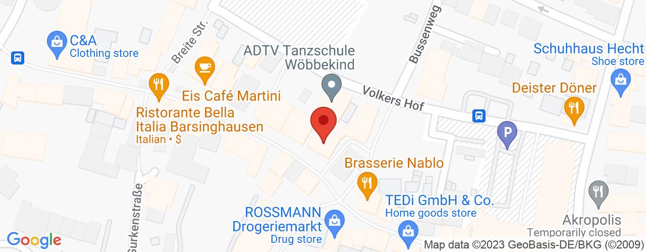 Karte von Bodymed-Center Barsinghausen
