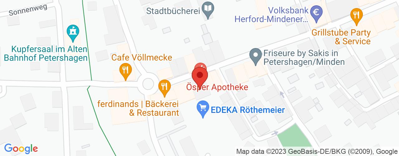Karte von Bodymed-Center Petershagen
