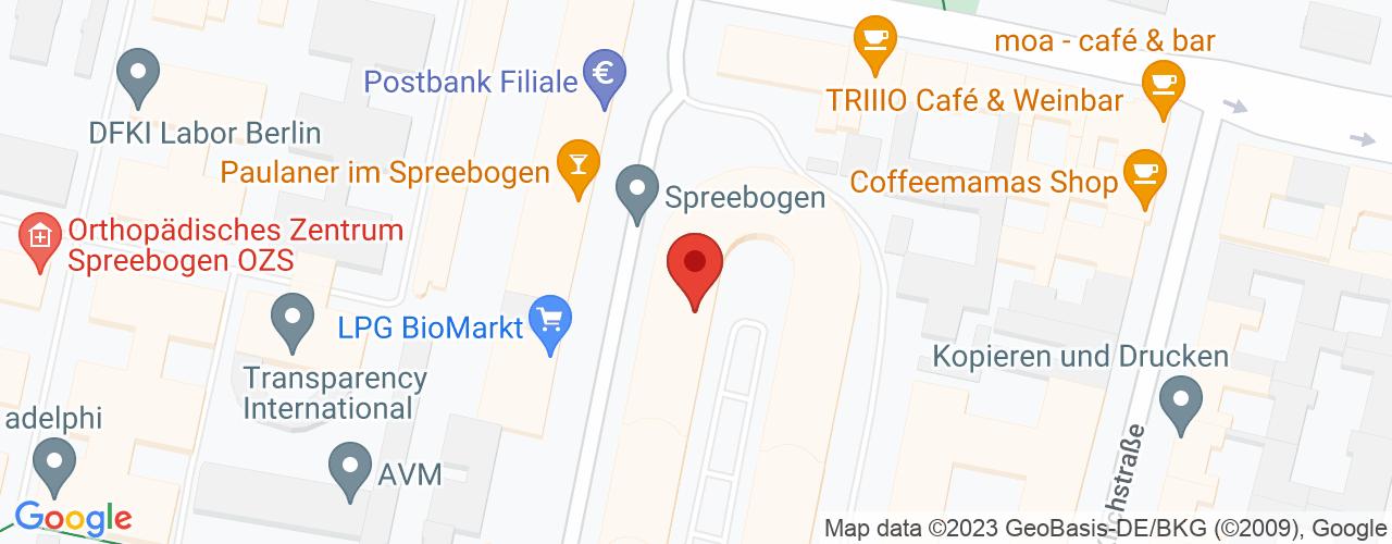Karte von Bodymed-Center Berlin-Moabit