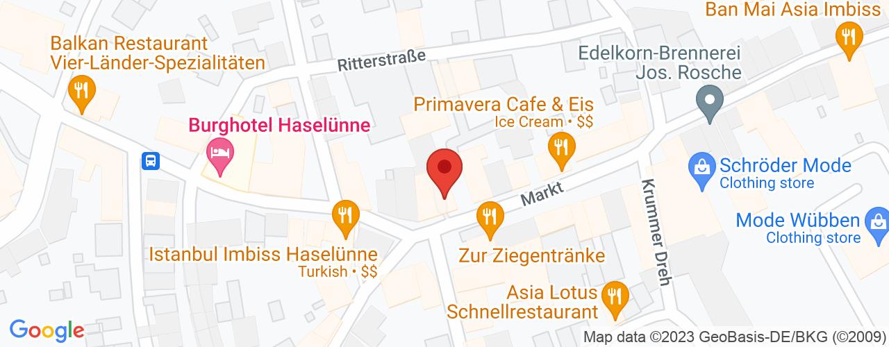 Karte von Bodymed-Center Haselünne