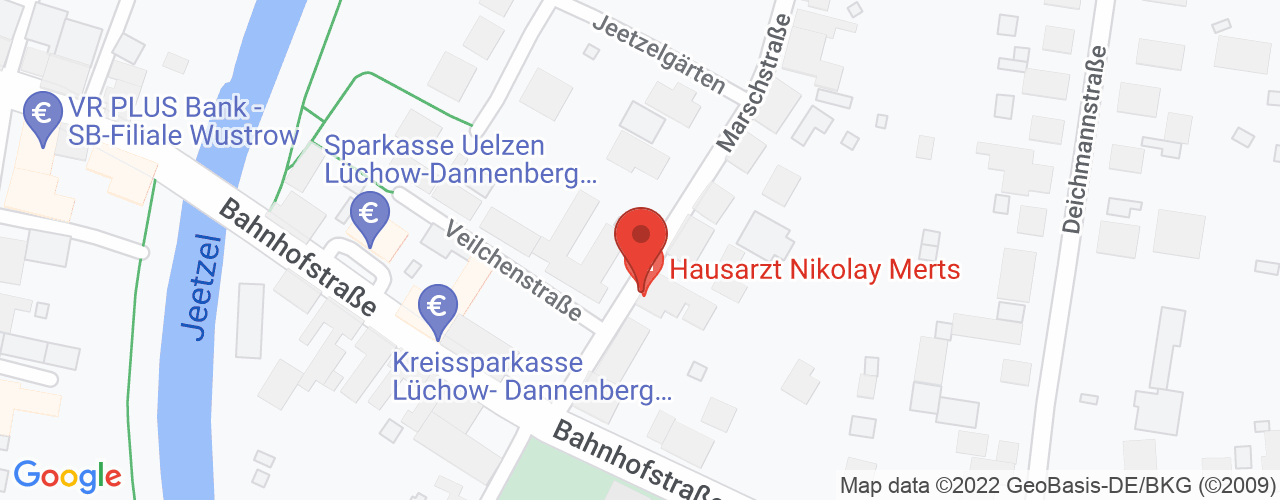 Karte von Bodymed-Center Wustrow