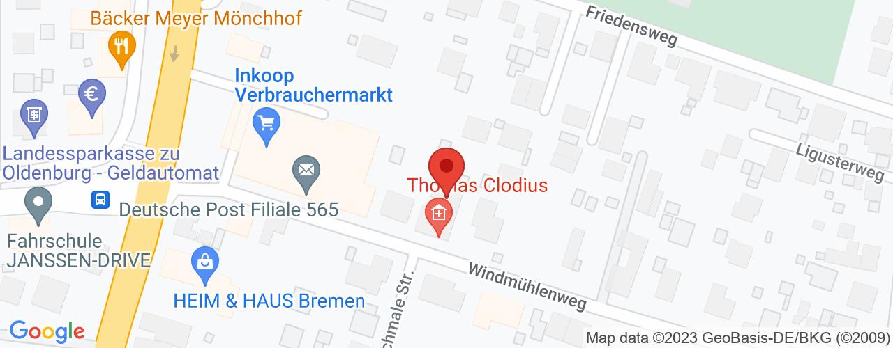Karte von Bodymed-Center Ganderkesee-Bookholzberg