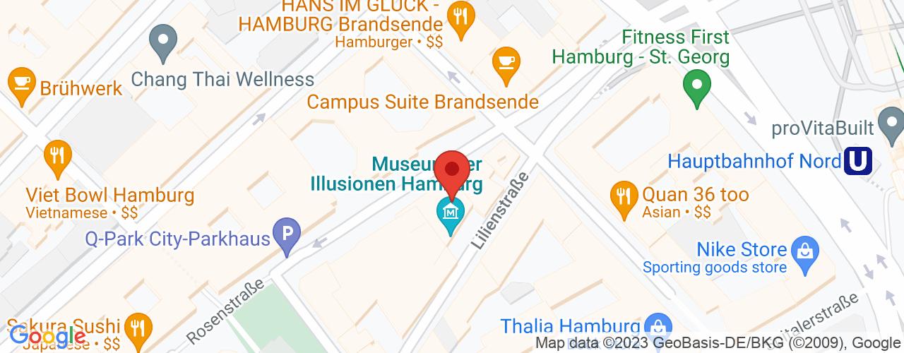 Karte von ♛ PREMIUM Bodymed-Center Hamburg Am Hauptbahnhof