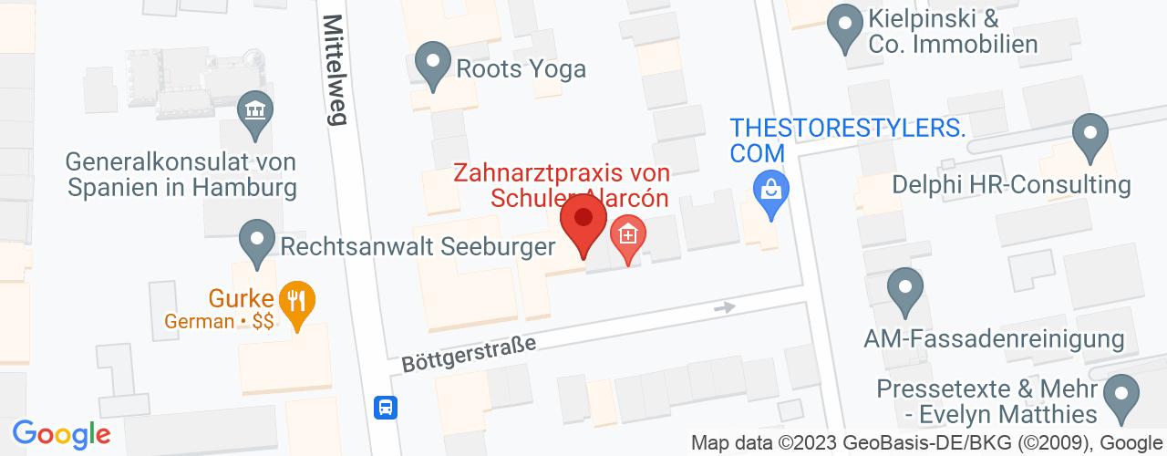 Karte von Bodymed-Center Hamburg Intensemed