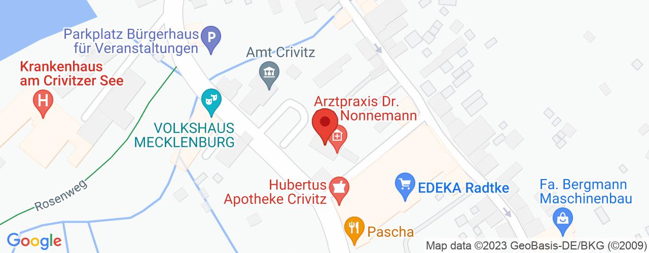 Karte von Bodymed-Center Crivitz