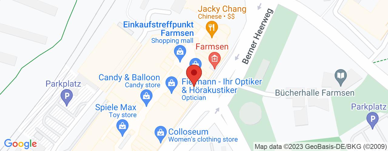 Karte von Bodymed-Center Hamburg-Farmsen