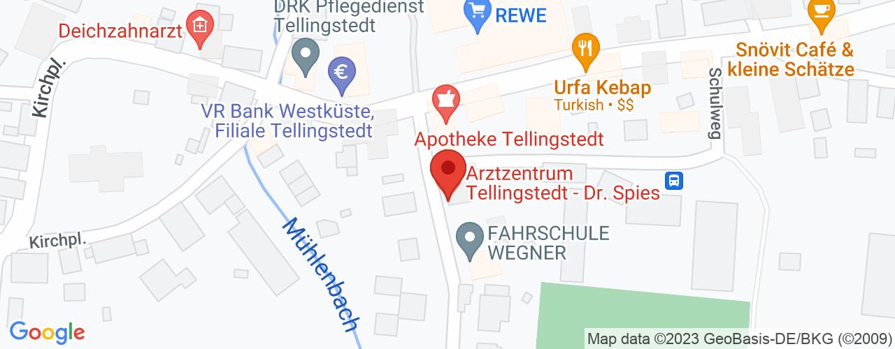 Karte von Bodymed-Center Tellingstedt