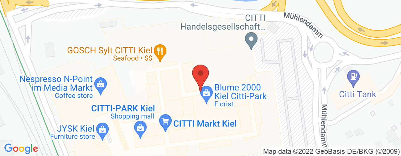 Karte von Bodymed-Center Kiel-Mühlendamm