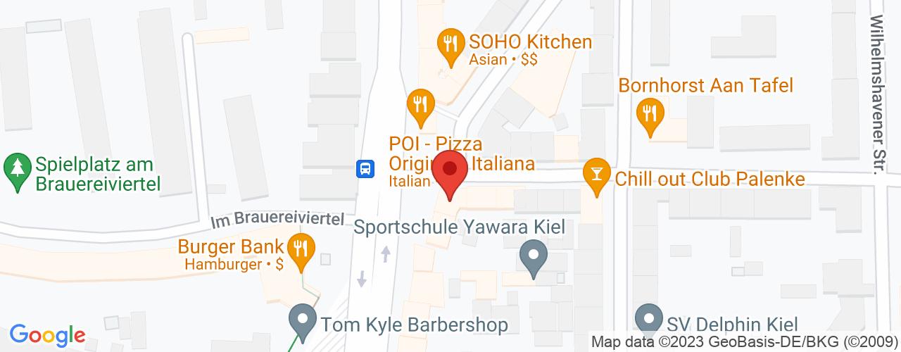 Karte von Bodymed-Center Kiel