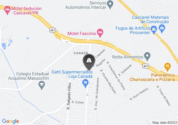 Mapa Buracos de grande proporção na Marechal Rondon, do Canafa