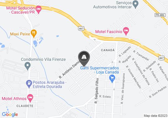 Mapa Buraco na via.