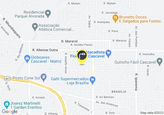 Mapa Lâmpada queimada na rua Glauber Rocha em frente ao número