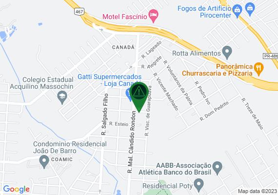 Mapa Propaganda do mercado Gatti em todo o bairro, sendo em